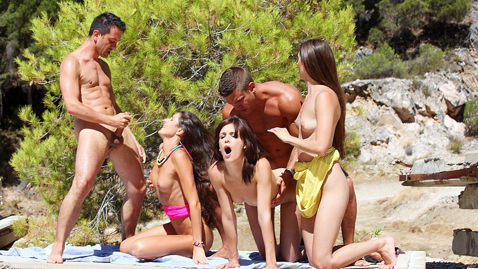 Party hot beach sex